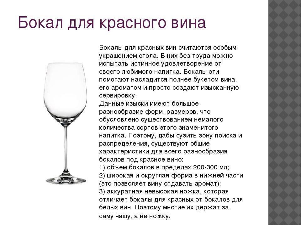 Бокалы под красное вино – выбираем правильное стекло