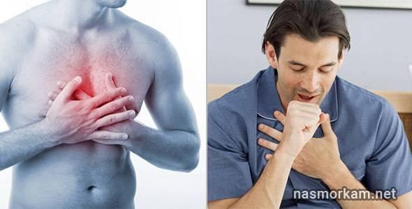 Боль в груди и кашель от сигарет