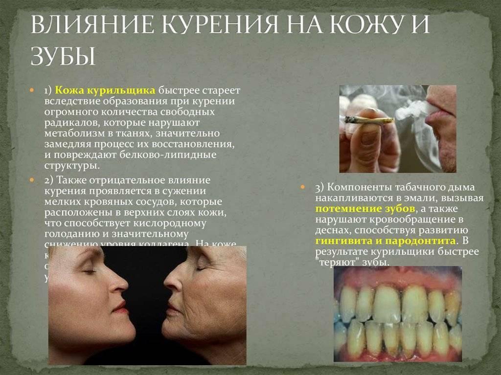 Изменения в организме курильщика