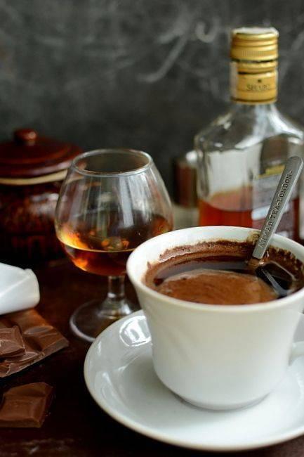 Кофе с коньяком – польза и вред☕ по данным [2018], а также рецепты интересных сочетаний
