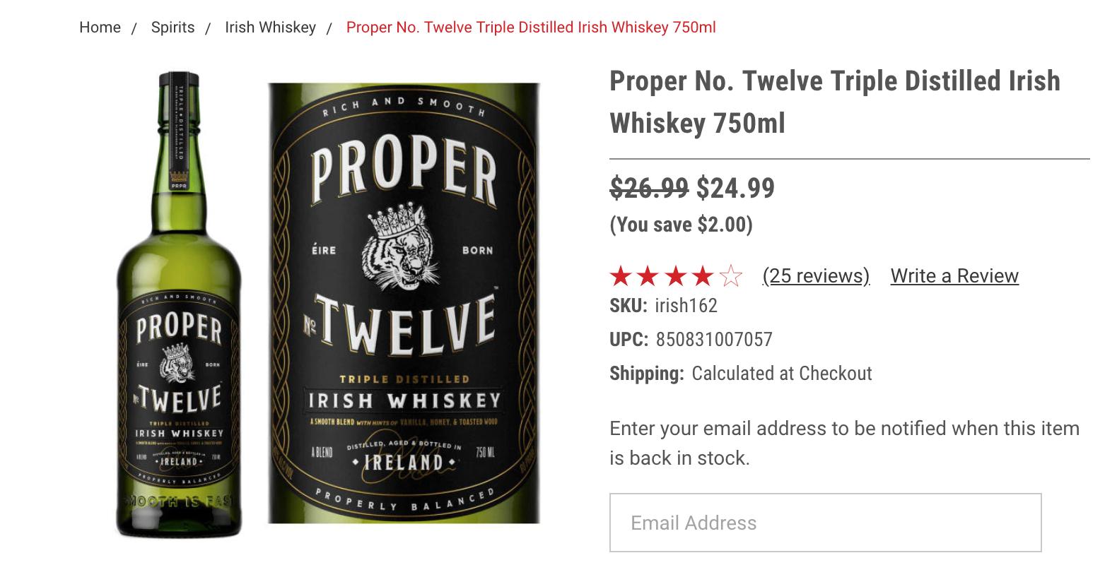 Pproper Twelve виски