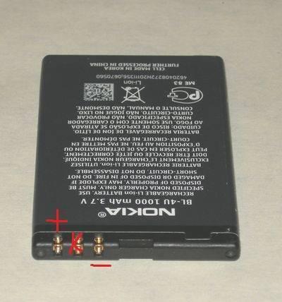 Как определить, где плюс и минус у аккумулятора 18650 Li-Ion
