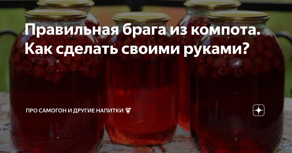 Брага из компота – особенности приготовления, оригинальные рецепты для дома