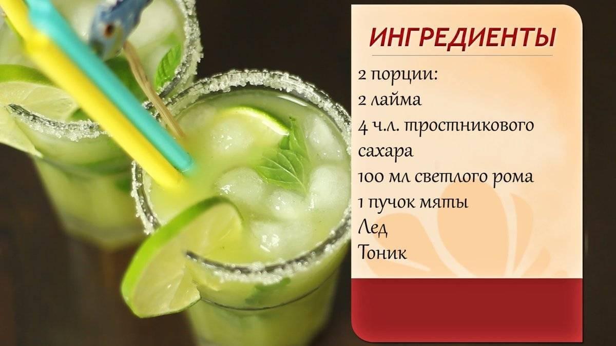 Домашний мохито – классический рецепт, безалкогольный, с водкой и фруктами
