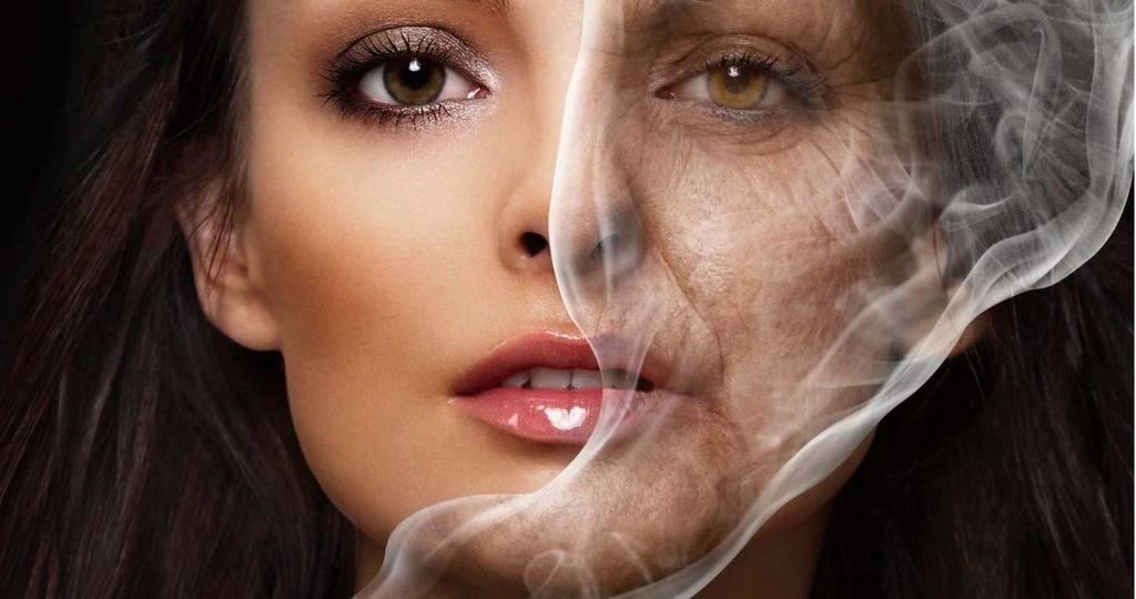 Как меняется лицо у курящих людей?