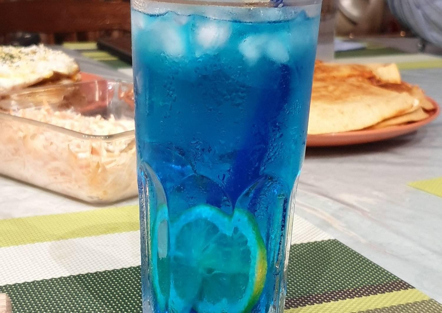 """Коктейль """"голубая лагуна"""" - кусочек райской экзотики"""