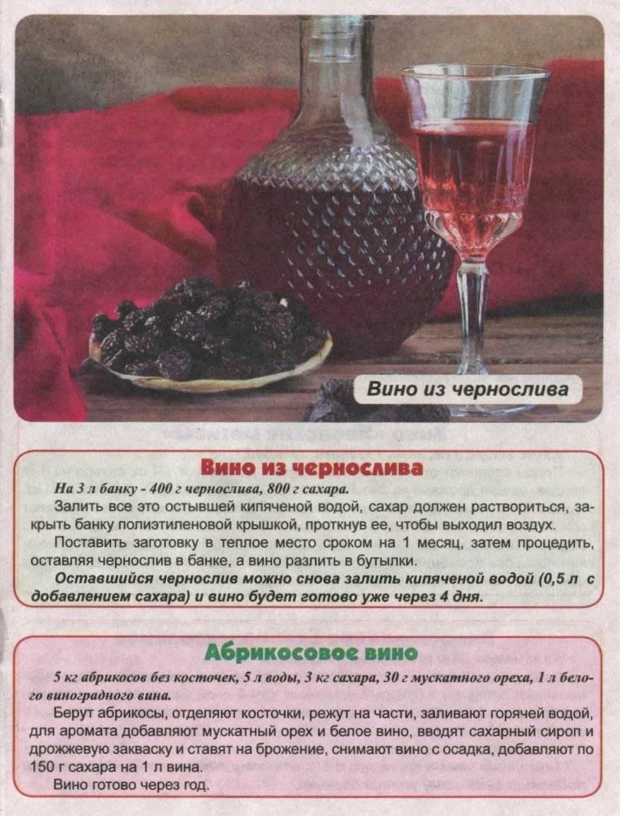 Вино из чернослива в домашних условиях рецепт