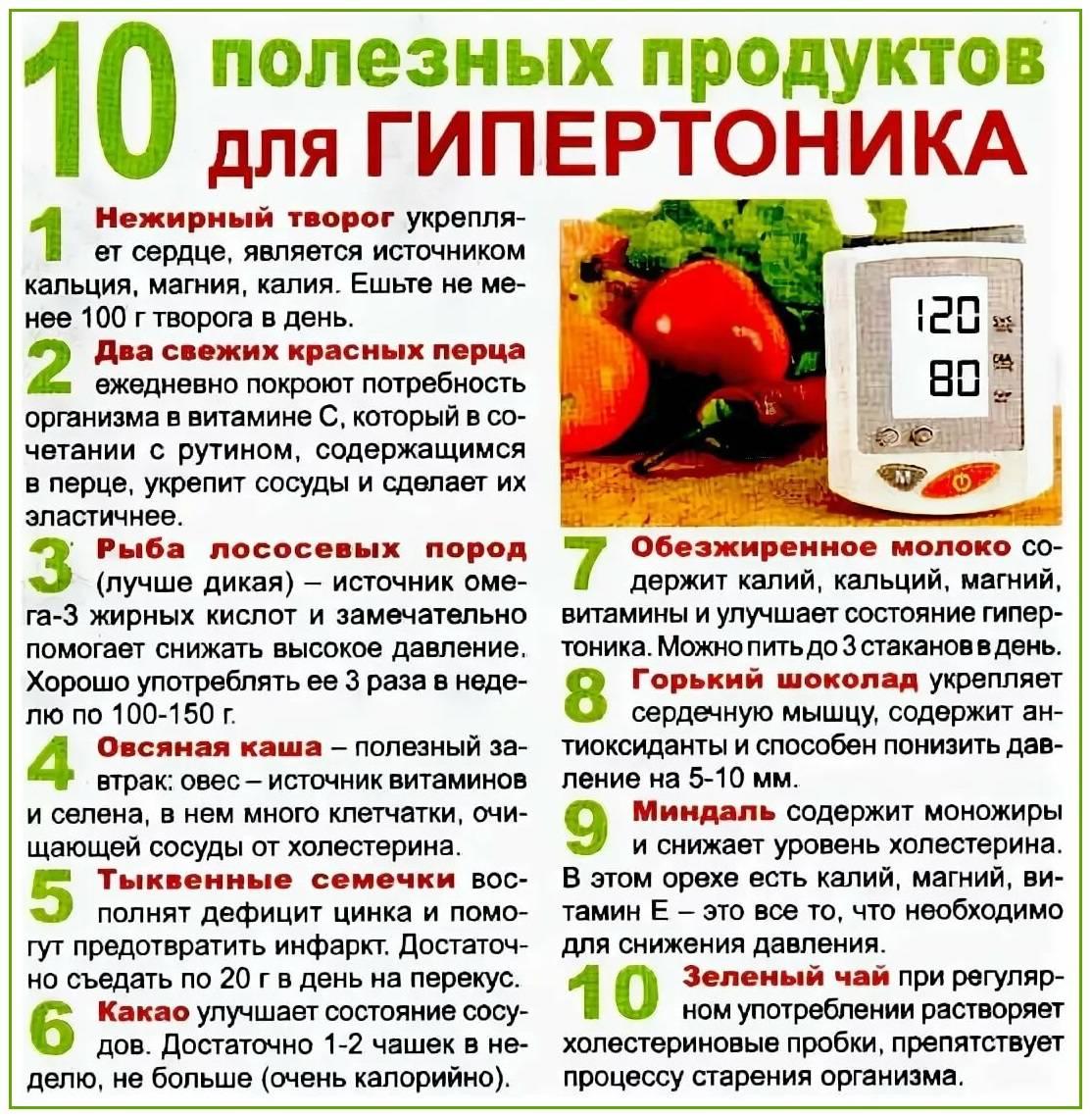 Продукты, понижающие давление: диета и таблица со списком лучших фруктов и овощей, быстро снижающих ад при гипертонии и в пожилом возрасте