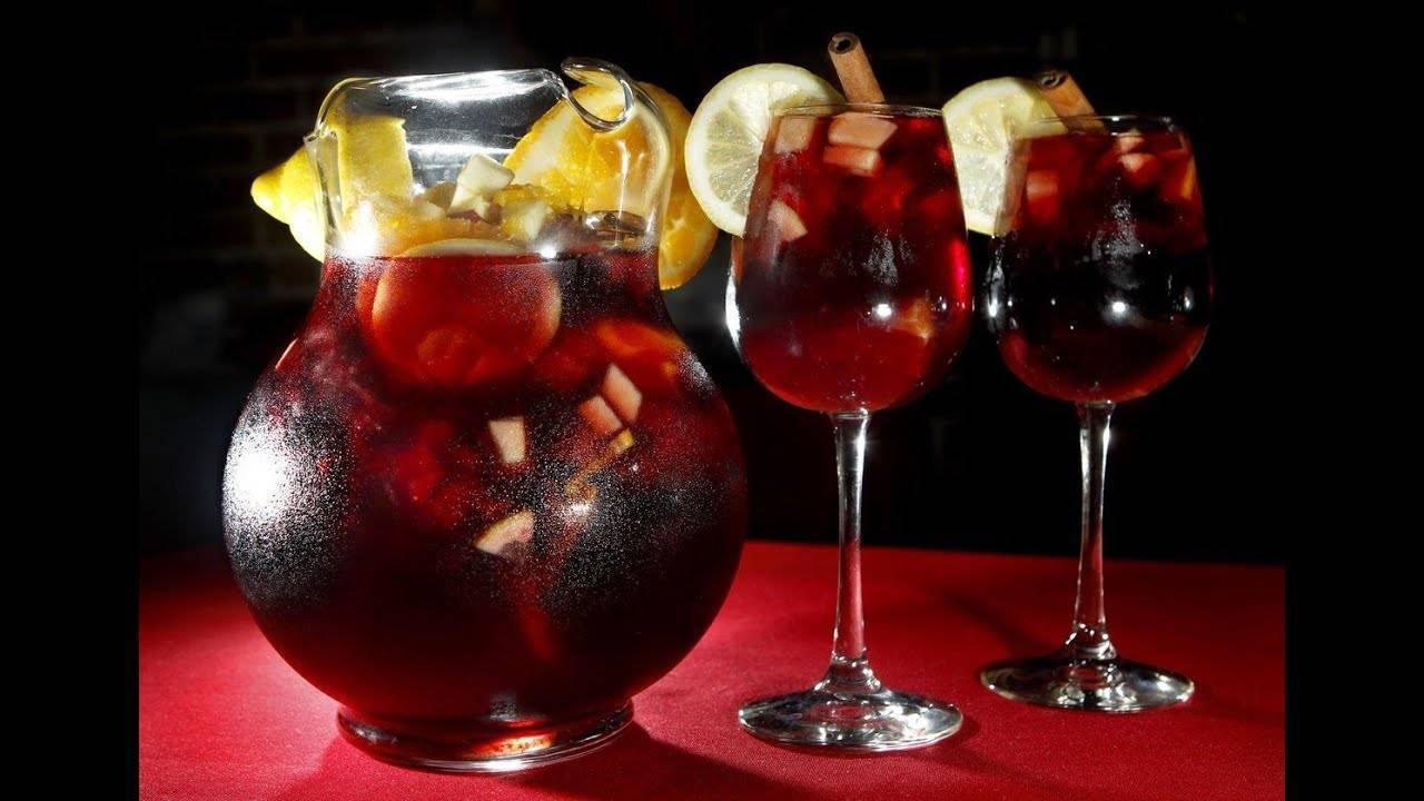 Вино сангрия по классическим рецептам с разными фруктами
