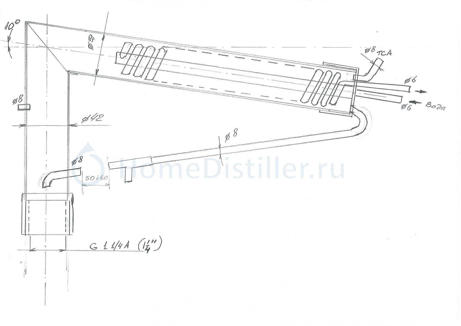 Медный самогонный аппарат своими руками с чертежами