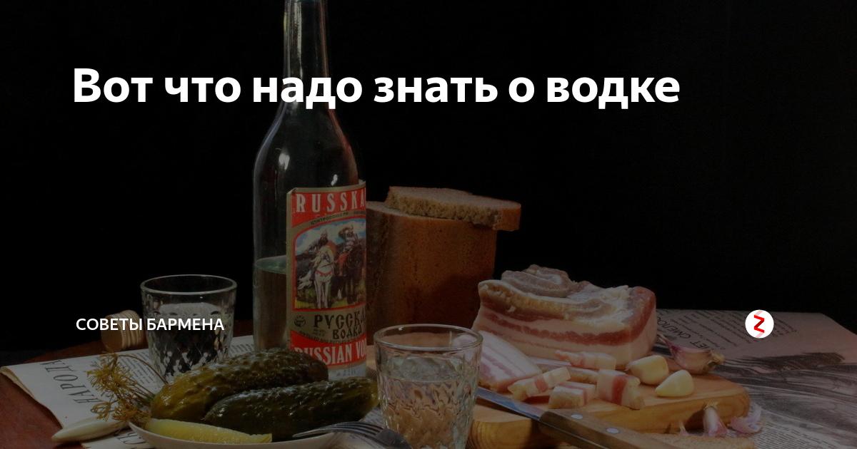Как пить водку правильно — советы профессионалов