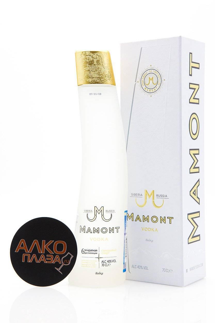 Водка мамонт (mamont) — характеристика продуктовой линейки