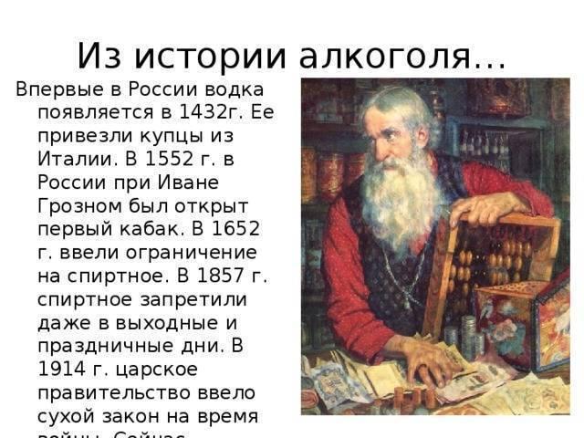 Кто изобрел спирт: и как появилась водка