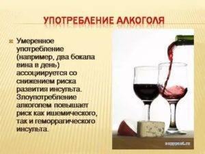 Спиртные напитки и инсульт