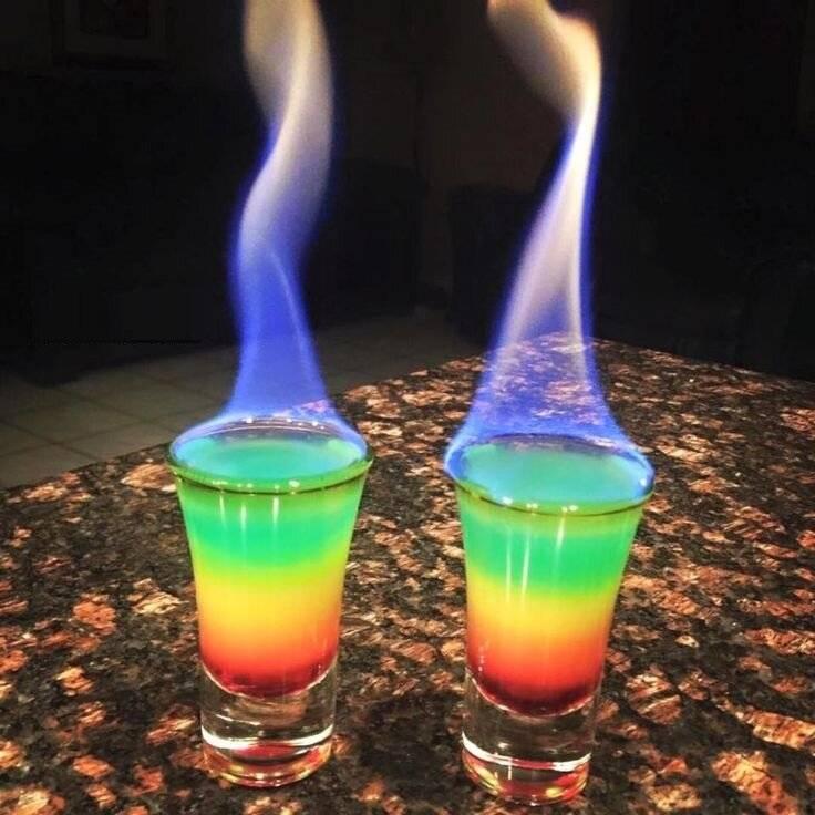 Коктейль радуга рецепт — история алкоголя