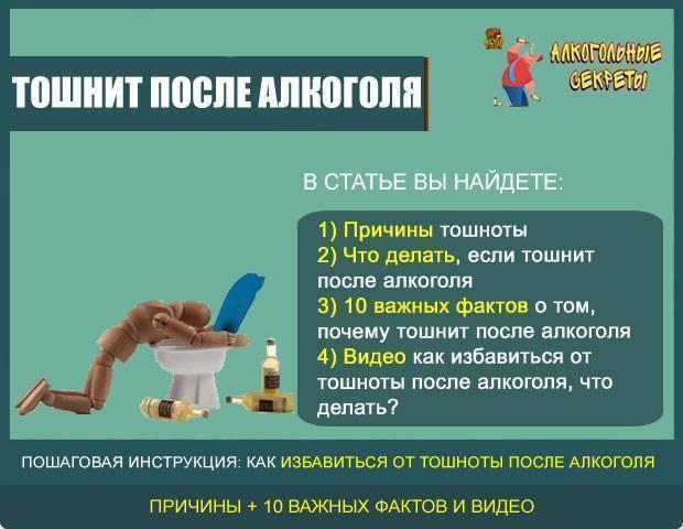 Рвота после алкоголя: как остановить тошноту