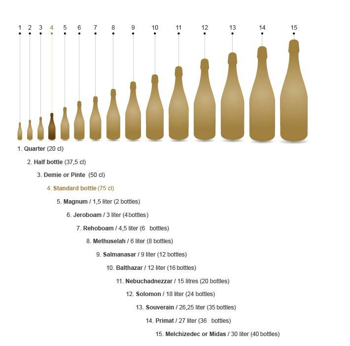 Формы, количество, размеры этикеток на шампанское