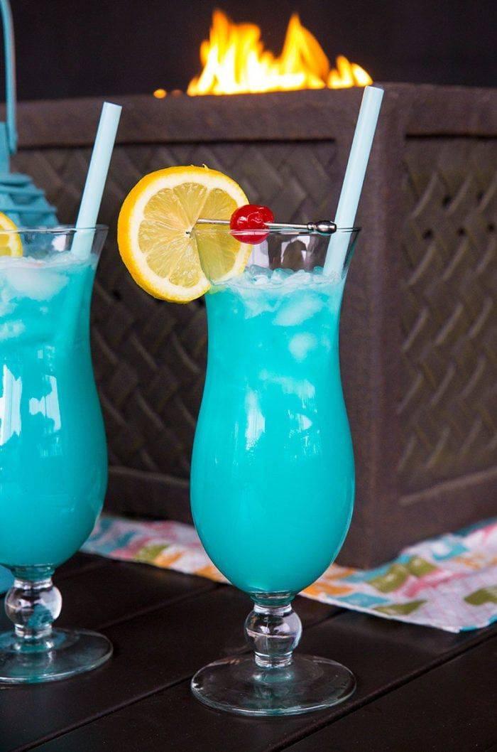 Пошаговый рецепт коктейля голубая лагуна с фото