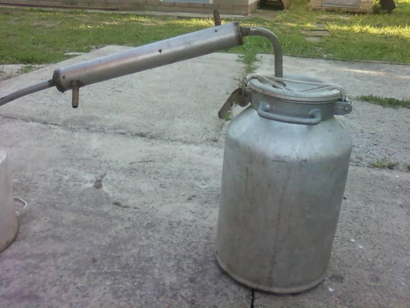 Этапы изготовления самогонного аппарата из пивной кеги, фляги или молочного бидона