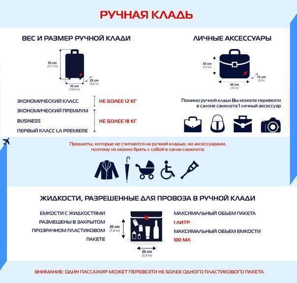 Что можно взять в ручную кладь в самолете, запреты и ограничения