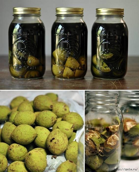 Перегородки грецкого ореха – настойка на водке или самогоне