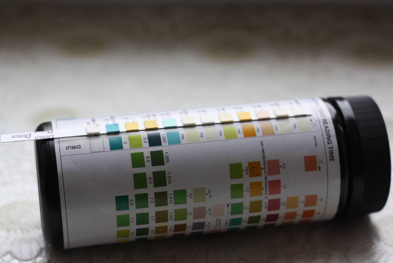 Тестовые полоски для определения сахара глюкозы в моче