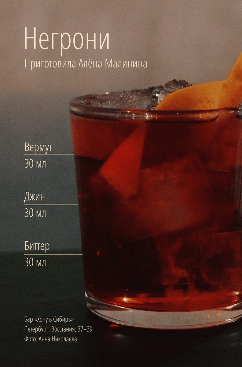 Классический рецепт коктейля негрони | bezprivychek.ru