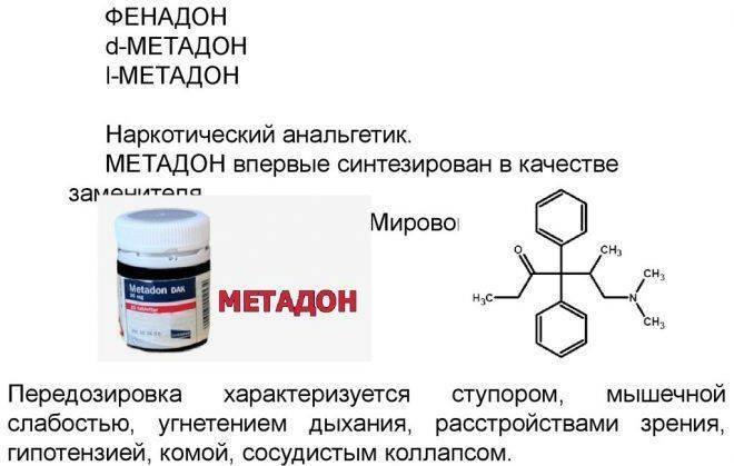 Метадон – действие на организм, отравление, вред и последствия