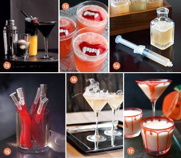 Слоистые коктейли на хэллоуин. зловещие безалкогольные коктейли на хэллоуин. кровь на снегу