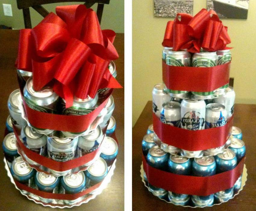Торт из банок пива своими руками. как сделать торт из пива для мужчины — фото пошагово