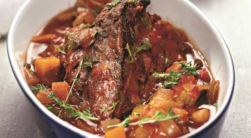 Мясной стейк в красном вине – кулинарный рецепт