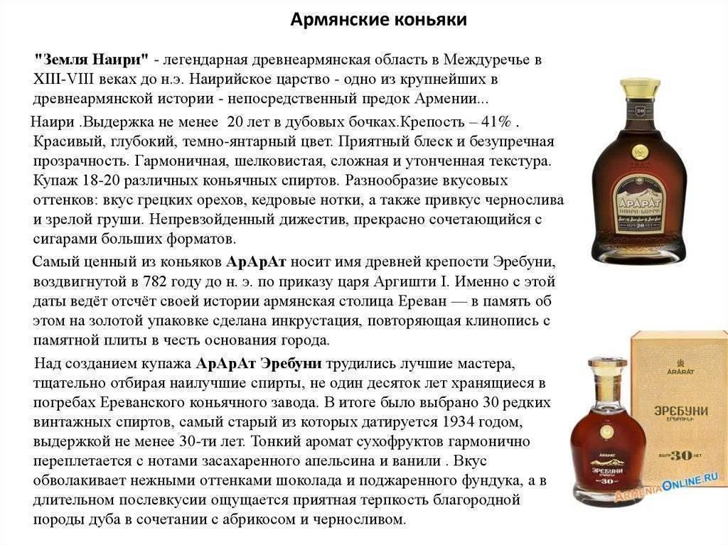 Благородный армянский коньяк идеальное сочетание вкуса, аромата и цены
