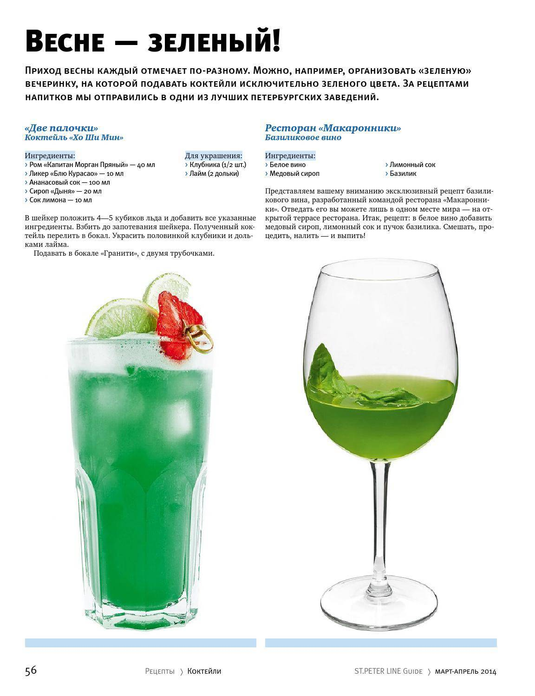 Коктейль зеленый мексиканец: рецепты и варианты приготовления