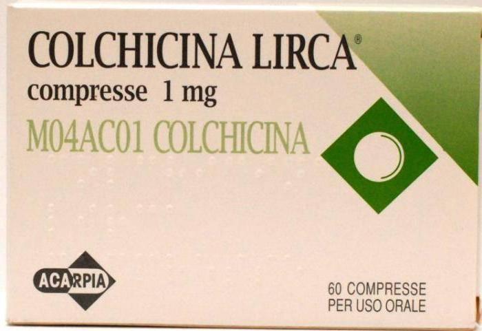 Подагра медикаментозное лечение колхицин   спина доктор