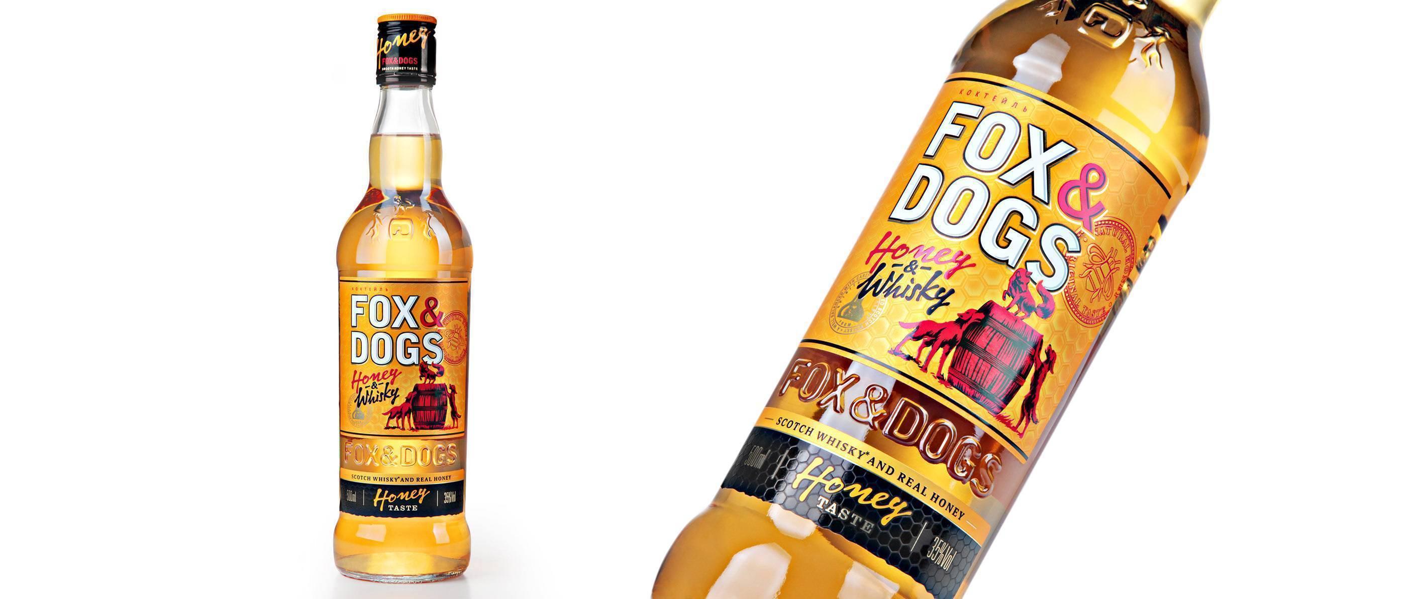 Виски «фокс энд догс» (fox and dogs) купажированный 0,5л крепость 40%