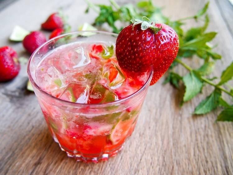 Клубничный мохито алкогольный рецепт с фото пошагово - 1000.menu