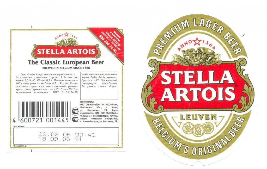 Особенности знаменитого пива stella artois
