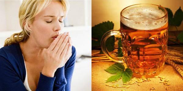 Помогает ли теплое пиво от боли в горле?