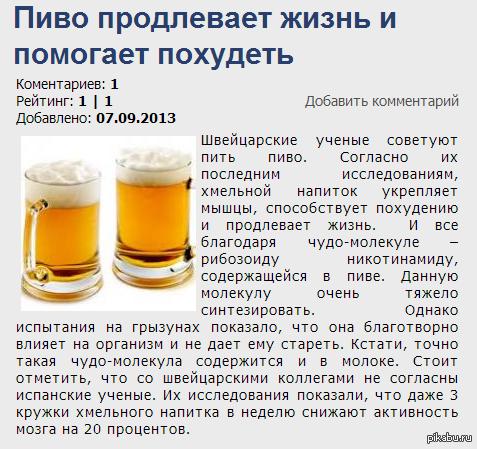 Разложить все по полочкам: почему полезно пить пиво