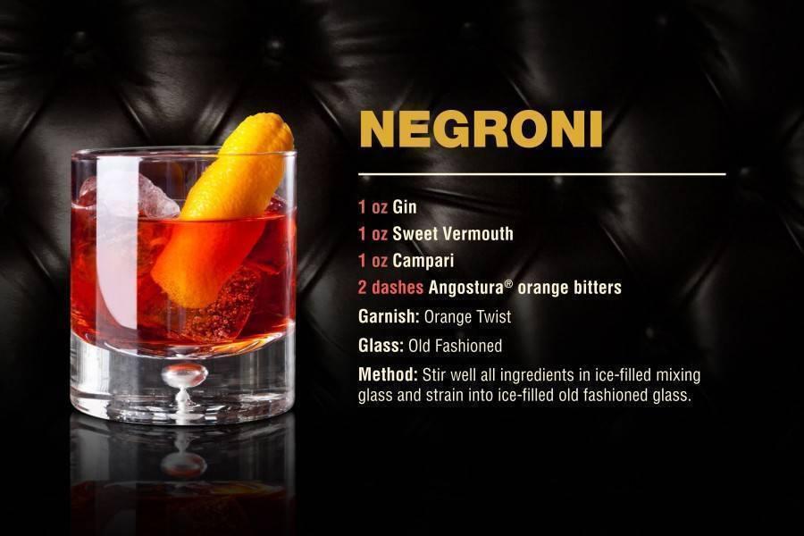 Коктейль негрони (negroni) – тонкое объединение вермута, джина и кампари