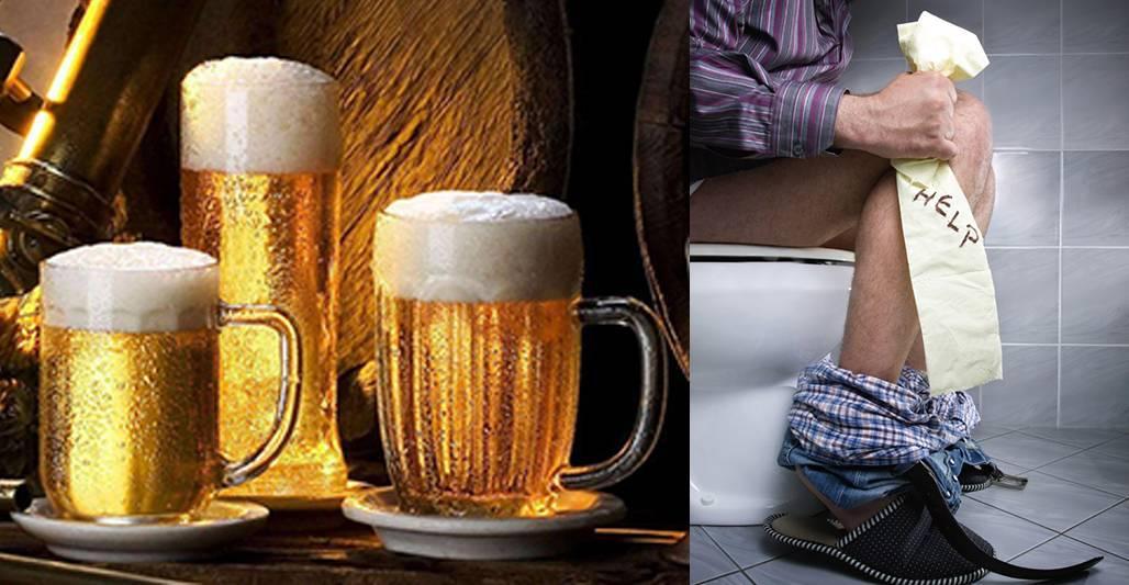 Понос после пива: почему появляется и как лечить