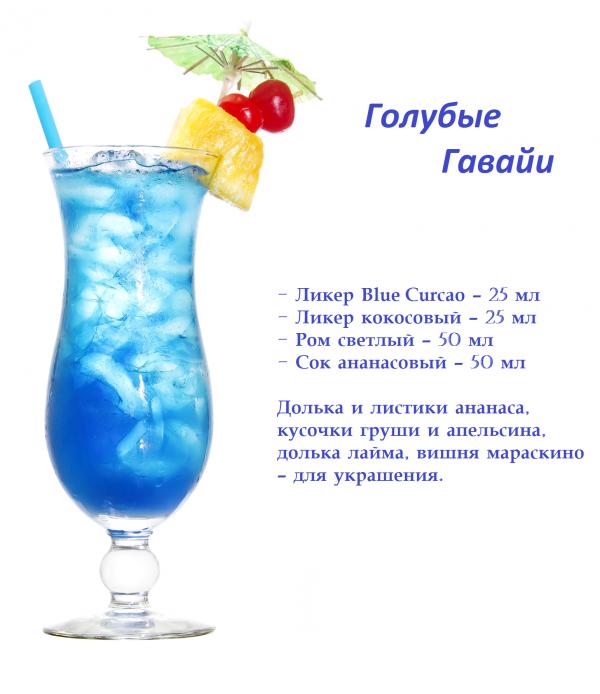 Коктейль «голубая лагуна» – рецепт удачной вечеринки