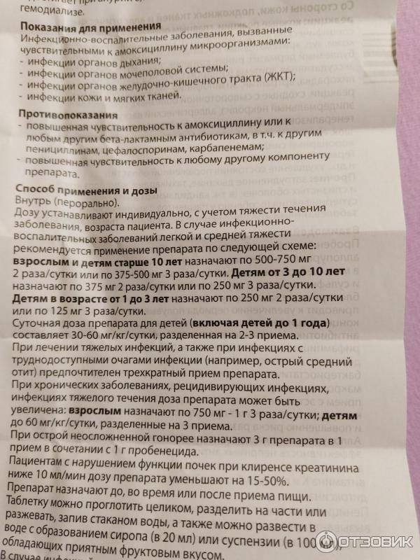 Флемоксин инструкция по применению (таблетки) ✔️ webapteka.info