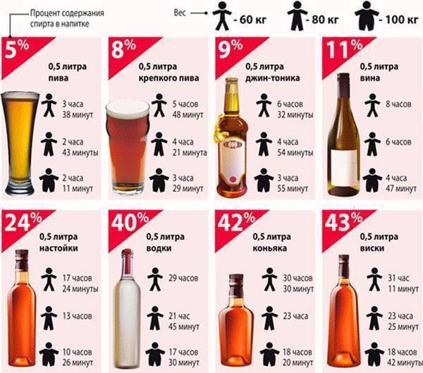 Сколько выводится пиво из организма таблица - права граждан