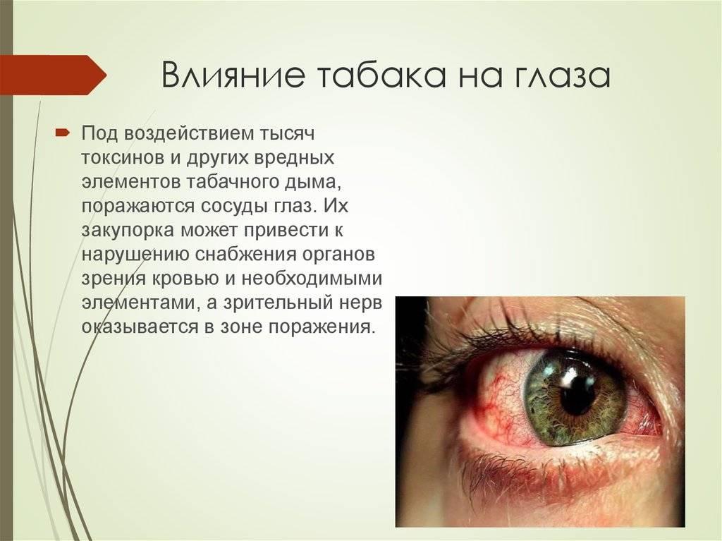Как курение влияет на зрение человека, список осложнений | za-rozhdenie.ru
