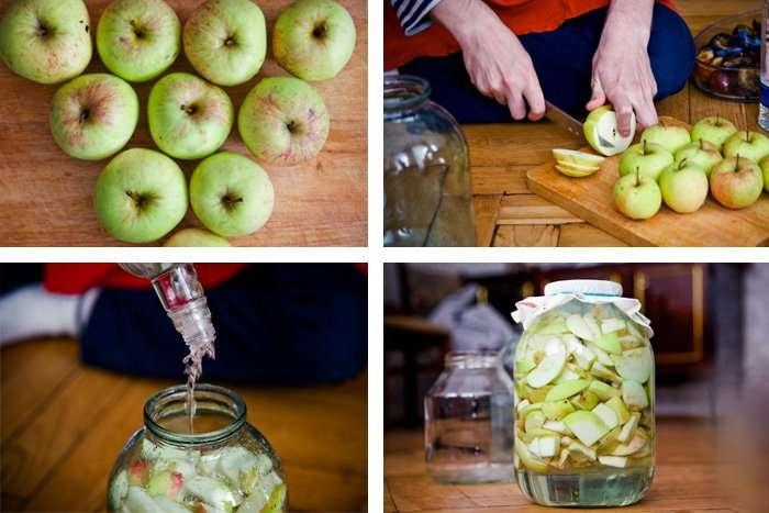 Домашняя настойка из яблок на водке, самогоне и спирту, простые рецепты приготовления ⛳️ алко профи