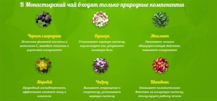 Монастырский чай – состав для желудка, сердца, от молочницы, травы для похудения, от алкоголизма