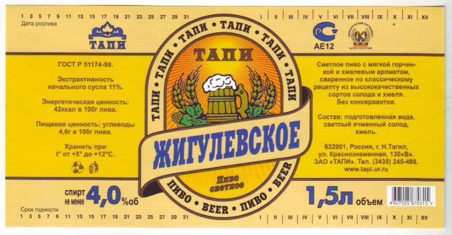 Рецепт приготовления домашнего пива, близкого к оригинальному «жигулевскому»