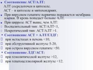 Анализ крови на алт и аст при циррозе печени