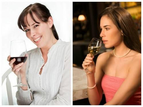 Как правильно держать бокал с белым и красным вином